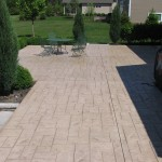 PATTERN: NOTCHED ASHLER SLATE<br /> COLOR HARDENER: SUN BUFF<br /> RELEASE: SAND BUFF
