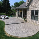 PATTERN: RANDOM FLAGSTONE<br /> COLOR: PUTTY<br /> RELEASE: CHARCOAL<br /> BORDER: REGULAR CONCRETE<br />