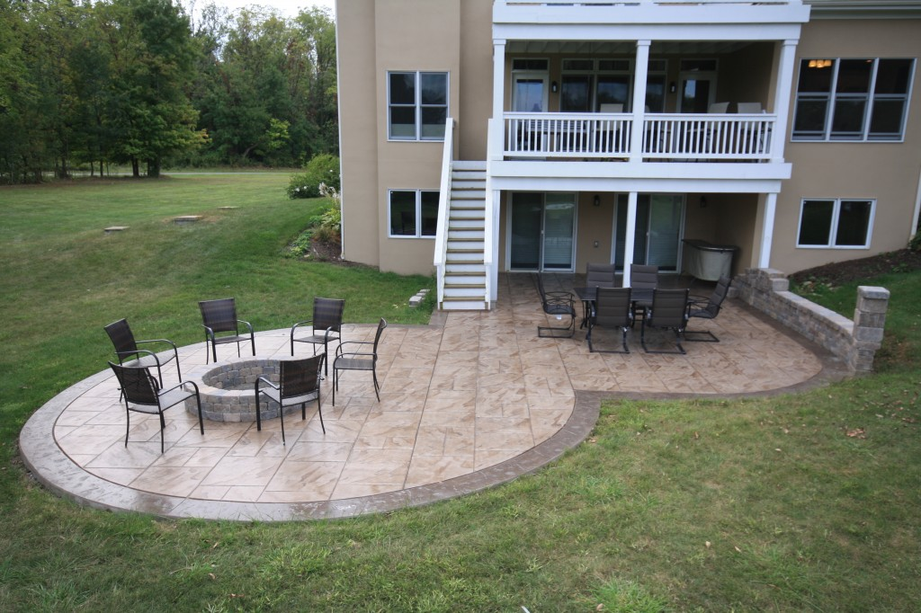 Stamped concrete driveways patios walkwayspool deck and porches